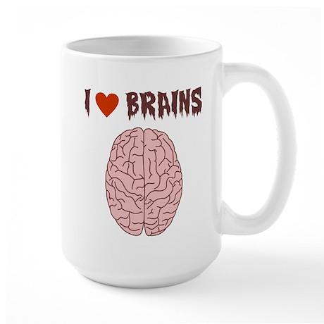 Zombie I Love Brains Large Coffee Mug