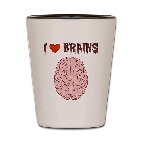 Zombie I Love Brains Shot Glass
