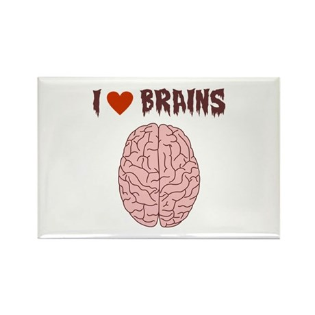 Zombie I Love Brains Rectangle Magnet