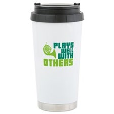 French Horn Plays Well Travel Mug
