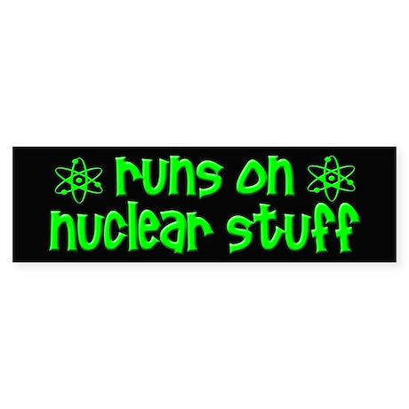 funny nuclear Sticker (Bumper)