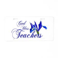 God Bless Teachers Aluminum License Plate