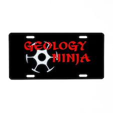 Geology Ninja Aluminum License Plate