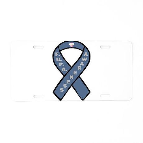 F.U.P.A. Awareness Ribbon Aluminum License Plate