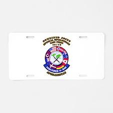 SOF - CJSOTF - South Aluminum License Plate