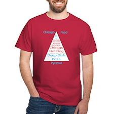 Chicago Food Pyramid T-Shirt