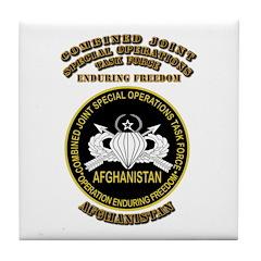 SOF - CJSOTF - Enduring Freedom Tile Coaster