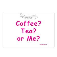 Coffee, Tea or Me? Postcards (Package of 8)