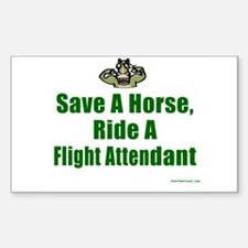 Save a Horse Rectangle Decal