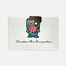 Zombies Are Everywhere! Rectangle Magnet