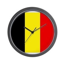 Belgian Flag Wall Clock