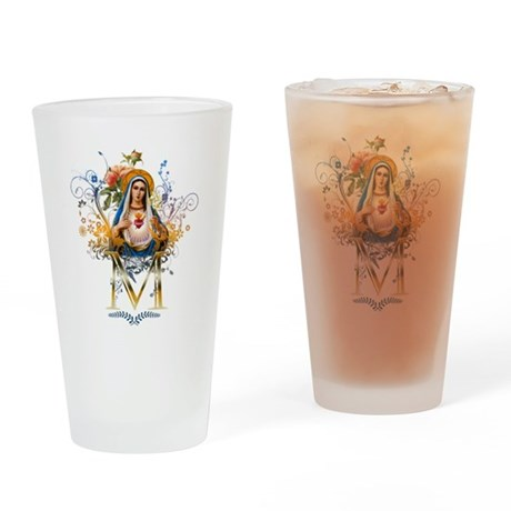 Immaculate Heart of Mary Drinking Glass