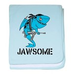 Jawsome Army baby blanket