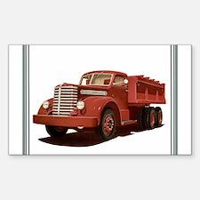Old Diamond T Truck Sticker (Rectangle 10 pk)