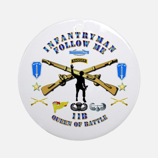Infantry - Follow Me Ornament (Round)