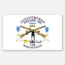 Infantry - Follow Me Sticker (Rectangle 10 pk)