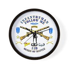 Infantry - Follow Me Wall Clock