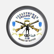 Infantry - Follow Me Wall Clock