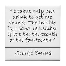 George Burn Quote Coaster