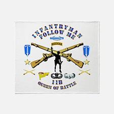 Infantry - Follow Me Throw Blanket