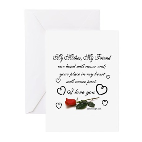 My Mother, My Friend Greeting Cards (Pk of 10)