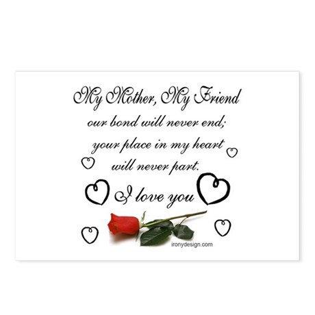 My Mother, My Friend Postcards (Package of 8)
