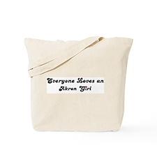 Loves Akron Girl Tote Bag