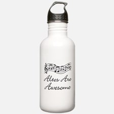 Alto Singer Gift Funny Sports Water Bottle