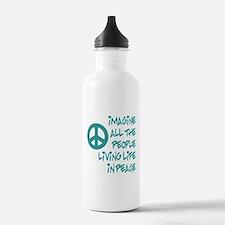 Cute World peace Water Bottle