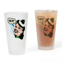 Yay! Drinking Glass