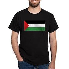 Palestine Flag Black T-Shirt