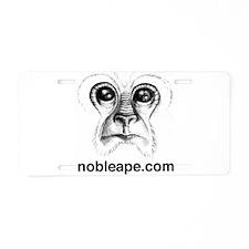Cute Apes Aluminum License Plate