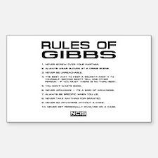 NCIS: Gibbs Rules2 Decal