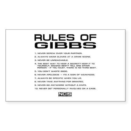 NCIS: Gibbs Rules2 Sticker (Rectangle 10 pk)