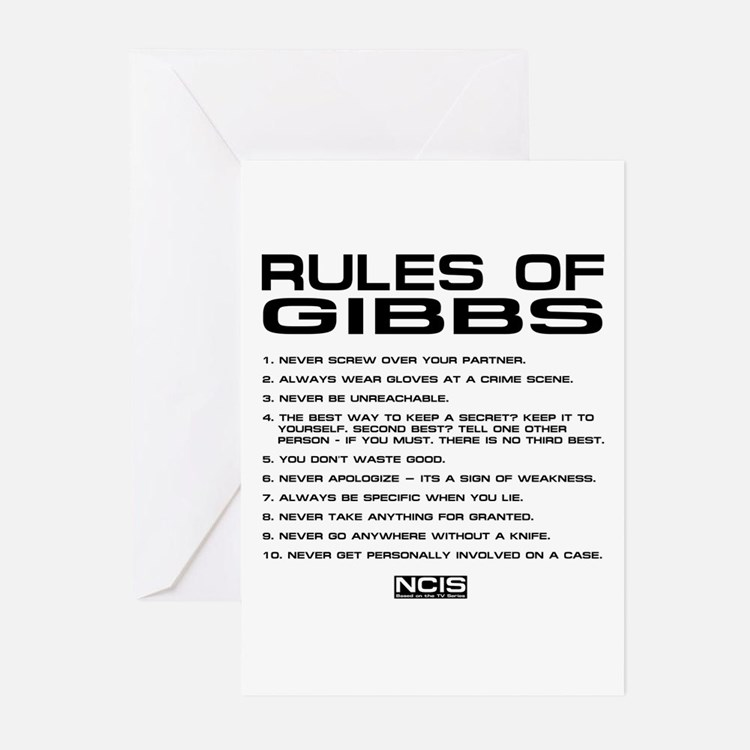 NCIS: Gibbs Rules2 Greeting Cards (Pk of 20)