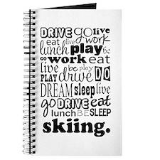 Skiing Gift Journal