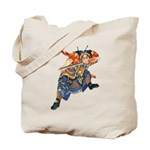 Japanese Samurai Warrior Tote Bag
