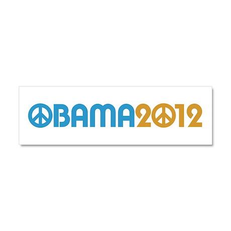 Obama Peace Sign Car Magnet 10 x 3