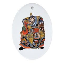Japanese Samurai Warrior Ornament (Oval)