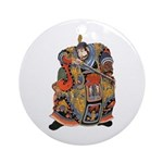 Japanese Samurai Warrior Ornament (Round)