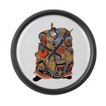 Japanese Samurai Warrior Large Wall Clock