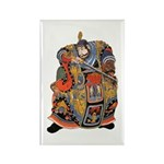 Japanese Samurai Warrior Rectangle Magnet (100 pac