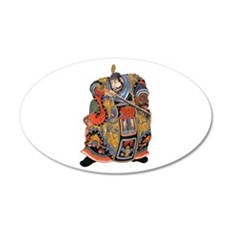 Japanese Samurai Warrior 22x14 Oval Wall Peel
