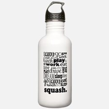 Squash Player Gift Water Bottle