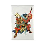Japanese Samurai Warrior Rectangle Magnet