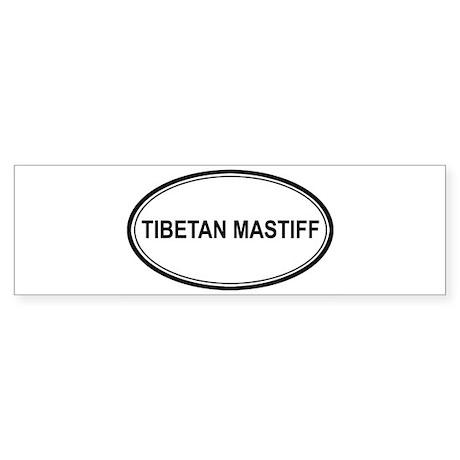 Tibetan Mastiff Euro Bumper Sticker