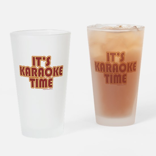 It's Karaoke Time Drinking Glass