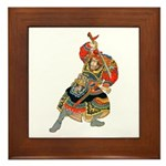 Japanese Samurai Warrior Framed Tile