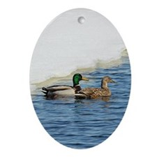 Mallard Pair Ornament (Oval)