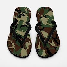 Camouflage Pattern Flip Flops